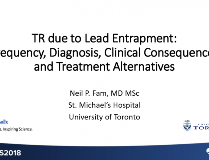 TR Due to Pacemaker Lead Entrapment: Frequency, Diagnosis, Clinical Consequencs, and Treatment Alternatives