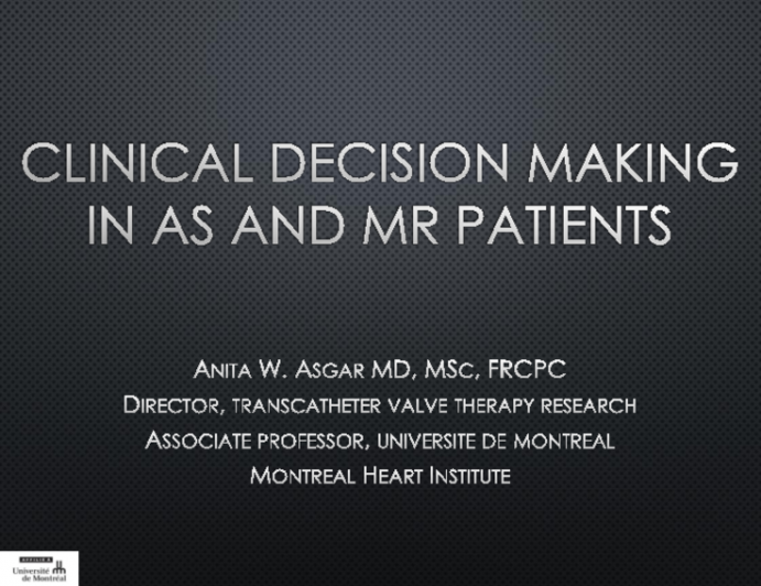 Clinical Decision-Mmaking in AS and MR Patients: Choosing the Best Patients for Multivalve Interventions