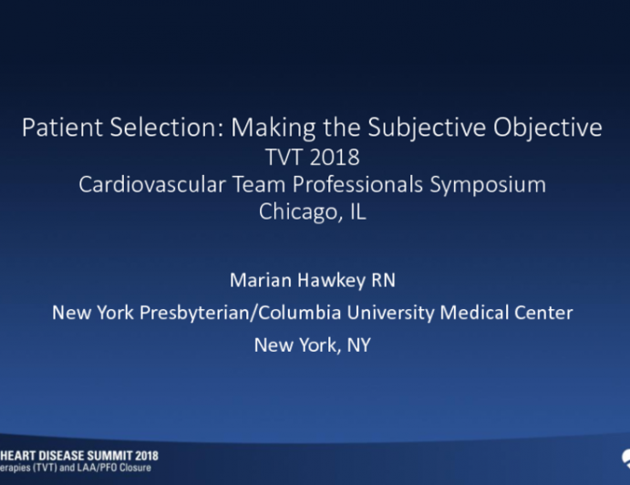 Patient Selection: Making the Subjective Objective (Frailty, Depression)
