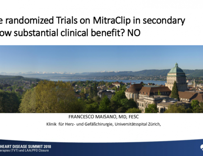 Will the Randomized Trials of MitraClip in Secondary MR Show Substantial Clinical Benefit? NO!