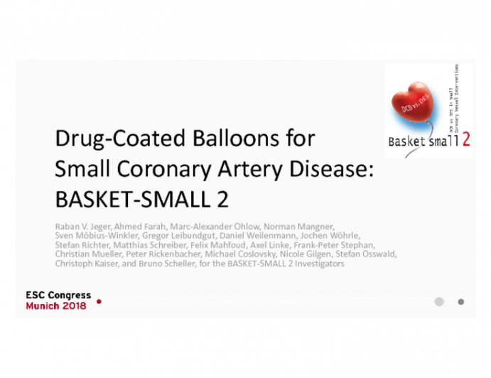Drug-Coated Balloons for Small Coronary Artery Disease: BASKET-SMALL 2