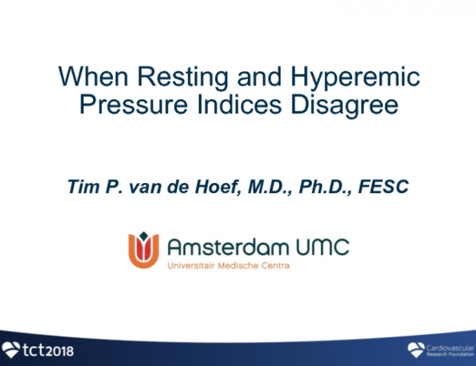 Clinical Conundrum: When Resting and Hyperemic Pressure Indices Disagree