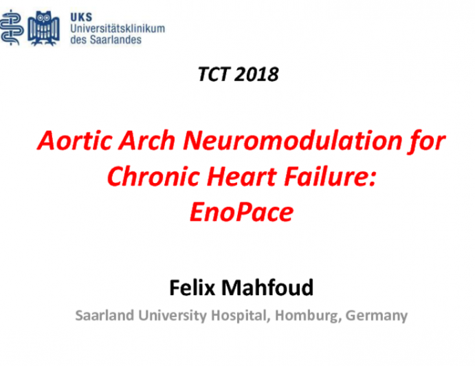 Aortic Arch Neuromodulation for Chronic Heart Failure: EnoPace