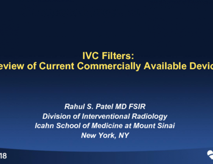 Overview of Current and Future IVC Filter Devices