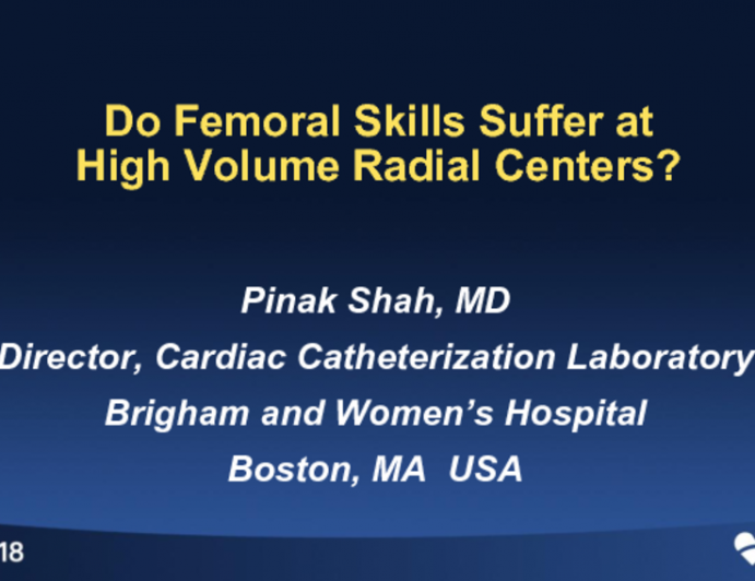Do Femoral Skills Suffer at High Volume Radial Centers?