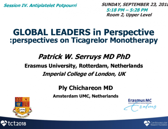 GLOBAL LEADERS in Perspective: Perspectives on Ticagrelor Monotherapy