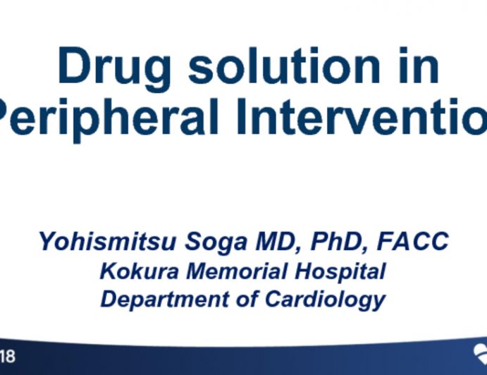 Drug Solutions in Peripheral Intervention