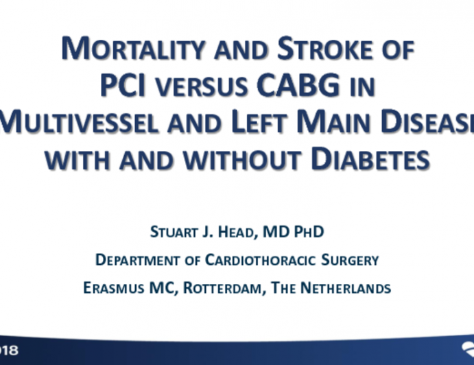 Mortality and Stroke Outcomes of PCI vs CABG in MVD and LMD With and Without Diabetes