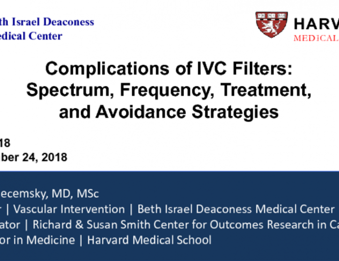 Complications of IVC Filters: Spectrum, Frequency, Treatment, and Avoidance Strategies
