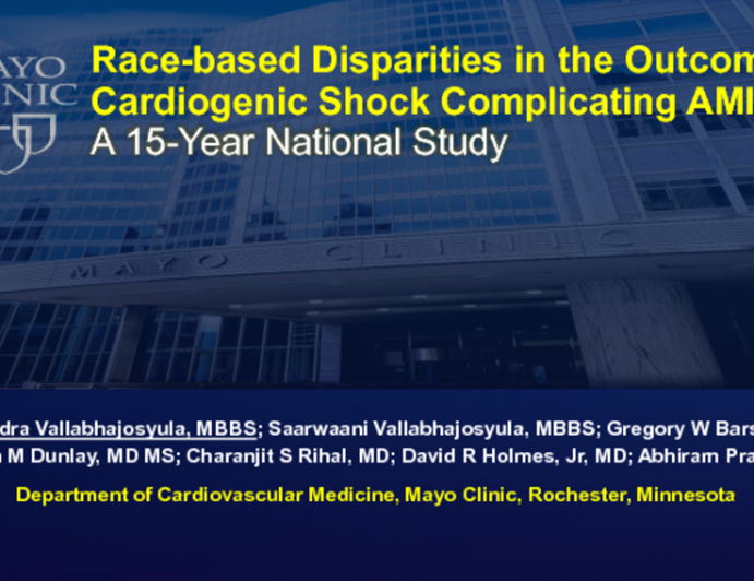 TCT-82: Race-based Disparities in the Management and Outcomes of Cardiogenic Shock Complicating Acute Myocardial Infarction: A 15-Year National Study