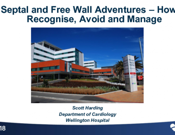 Managing Perforations IV: Septal and Free Wall Adventures- How to Recognize, Avoid, and Manage