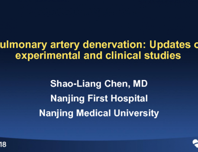Pulmonary Artery Denervation: Updates of Experimental and Clinical Studies
