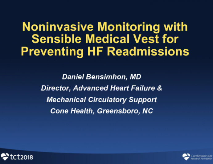 Noninvasive Monitoring With Sensible Medical for Preventing Heart Failure Rehospitalizations