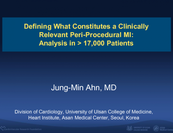 Defining What Constitutes a Clinically Relevant Peri-Procedural MI: Analysis in > 17,000 Patients