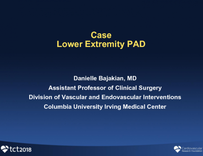 My Best Case – Lower Extremity PAD Intervention