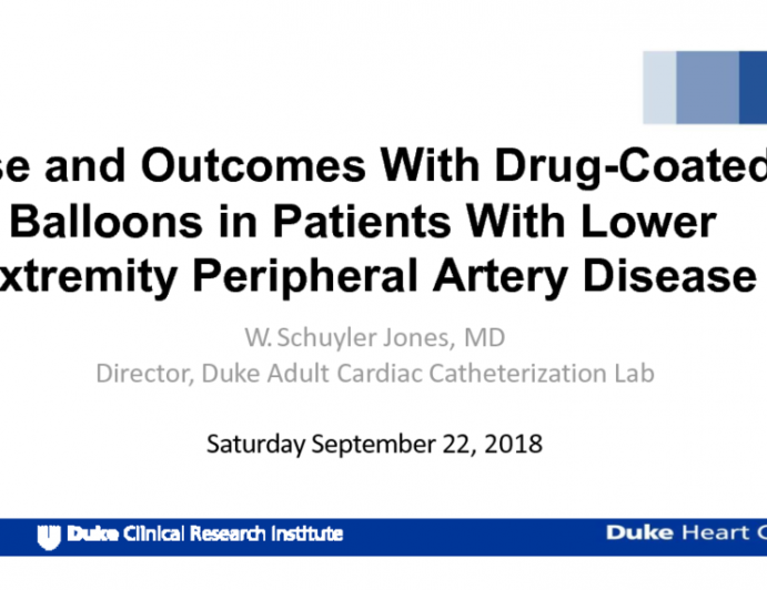Use and Outcomes With Drug-Coated Balloons in Patients With Lower Extremity Peripheral Artery Disease