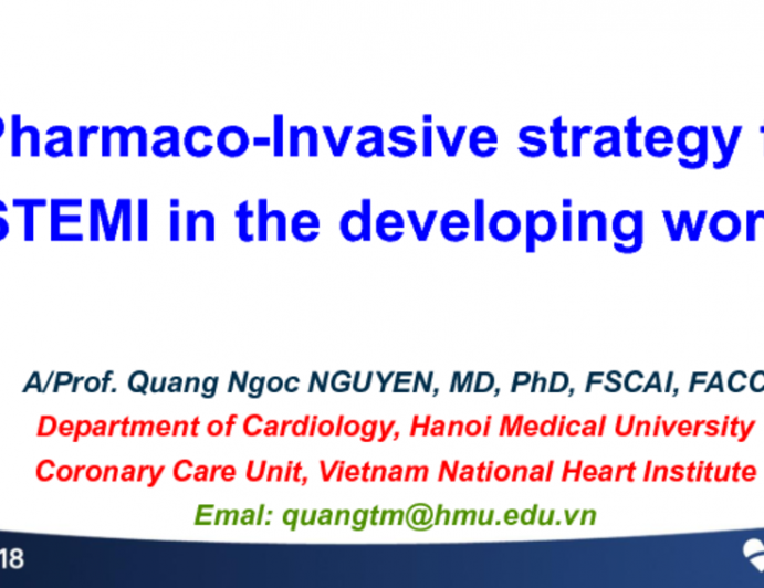 Case Presentation From Vietnam: Pharmacoinvasive Strategy In the Developing World