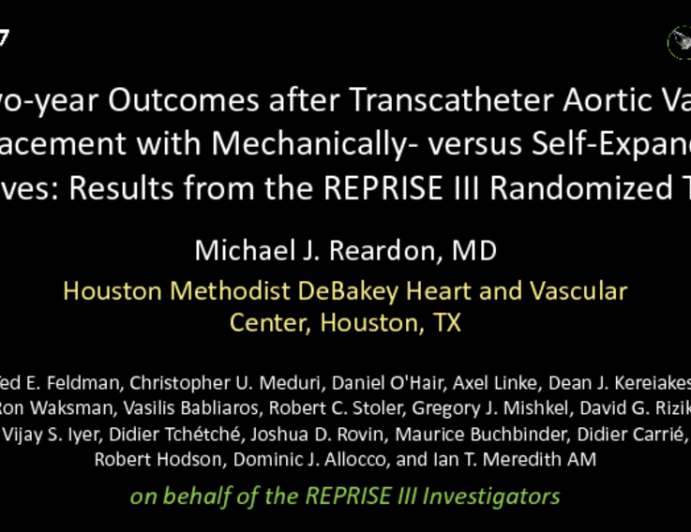 TCT-15: Two-Year Outcomes After Transcatheter Aortic Valve Replacement With Mechanically- versus Self-Expandable Valves: Results From The REPRISE III Randomized Trial