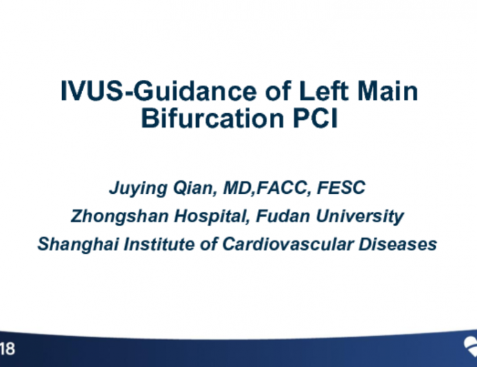 Case #1: FFR- and IVUS-Guidance of Left Main Bifurcation PCI