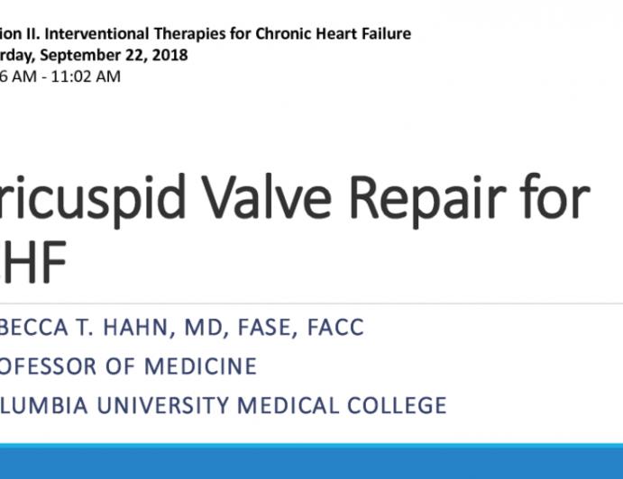 Tricuspid Valve Repair for CHF