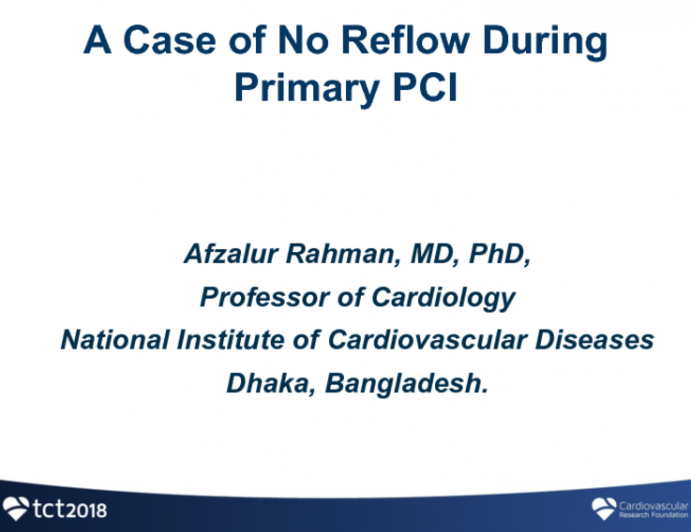 Introduction: A Case of No Reflow During Primary PCI