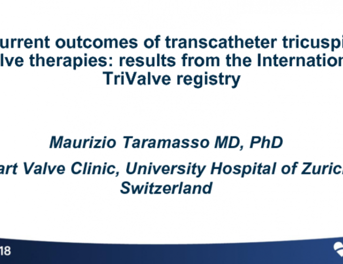 Current Outcomes of Transcatheter TR Therapies: Results from the International TriValve Registry