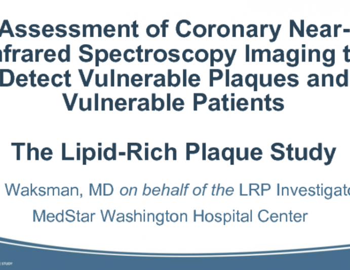 LRP: Assessment of Coronary Near-Infrared Spectroscopy Imaging to Detect Vulnerable Plaques and Vulnerable Patients