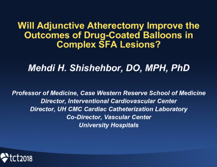 Will Adjunctive Atherectomy Improve the Outcomes of Drug-Coated Balloons in Complex SFA Lesions?
