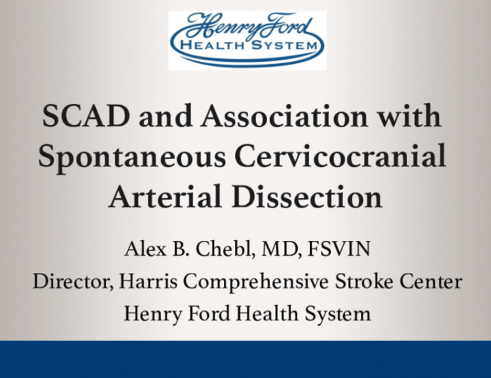 SCAD and Association with Spontaneous Cervicocranial Arterial Dissection