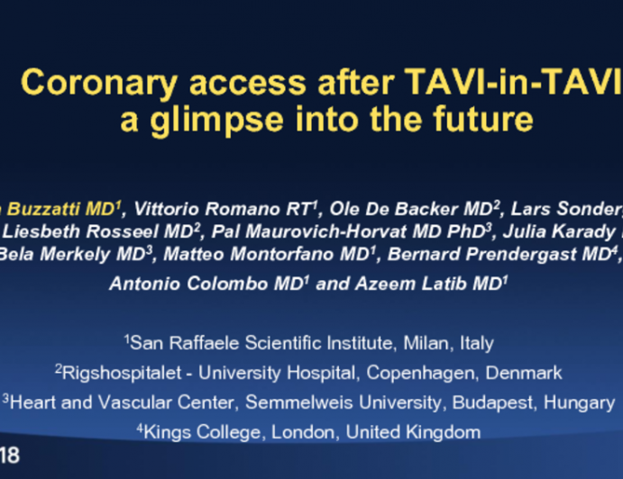 TCT-97: Preserving Coronary Access After Valve-in-TAVI: A Glimpse Into the Future