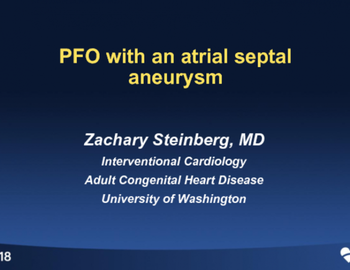A PFO With a Significant Atrial Septal Aneurysm