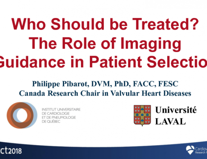 Who Should be Treated? The Role of Imaging Guidance in Patient Selection