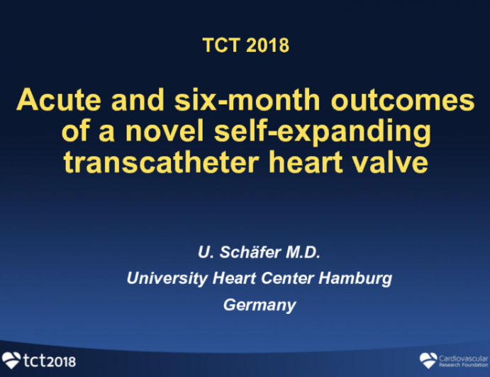 TCT-41: Acute and Six-month Outcomes of a Novel Self-Expanding Transcatheter Heart Valve