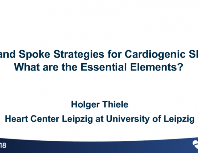 Hub and Spoke Strategies for Cardiogenic Shock: What are the Essential Elements?