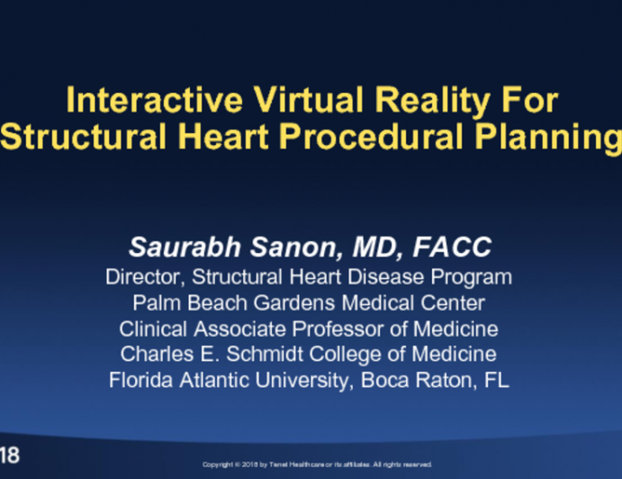 Interactive Virtual Reality Imaging for Structural Heart Procedural Planning