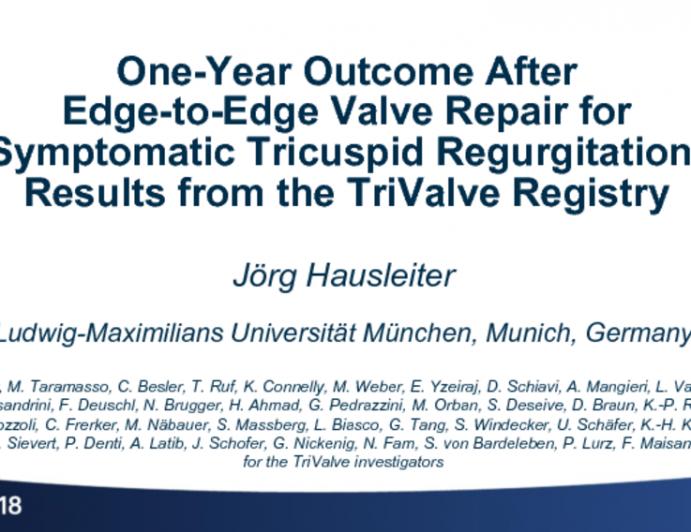 TRIVALVE: Evaluation of Edge-to-Edge Valve Repair for Symptomatic Tricuspid Regurgitation