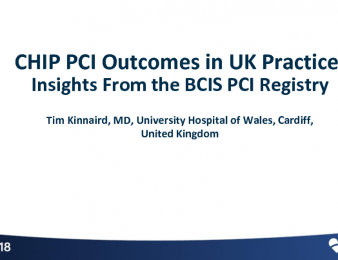 CHIP-PCI Outcomes in UK Practice: Insight From the BCIS PCI Registry