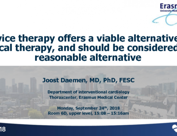 Device Therapy Offers a Viable Alternative to Medical Therapy, and Should Be Considered as a Reasonable Alternative!
