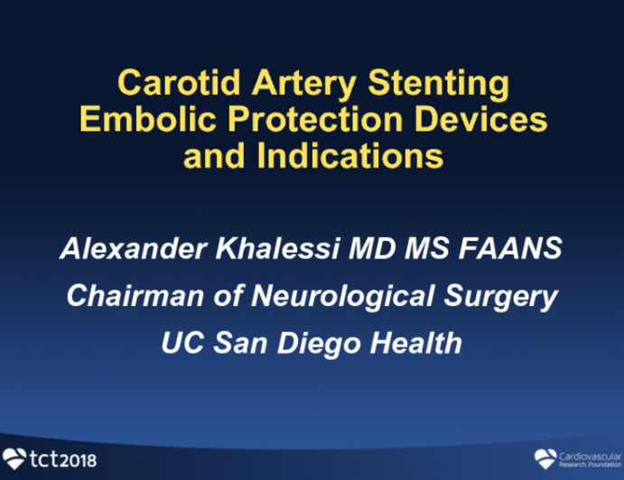 Carotid Artery Disease Technical Considerations: Embolic Protection Options and Selection