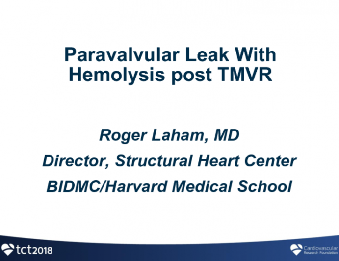 Case Presentation: Paravalvular Leak With Hemolysis