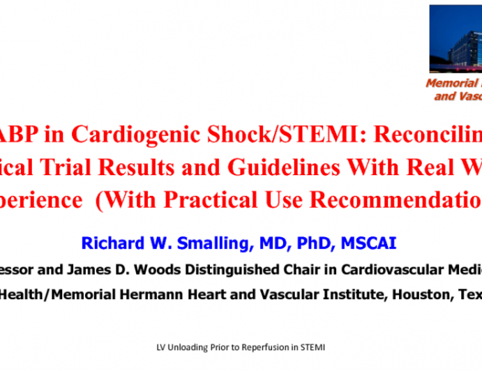 IABP in Cardiogenic Shock: Reconciling Clinical Trial Results and Guidelines With Real-World Experience (With Practical-use Recommendations)