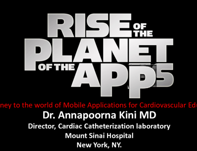 Rise of the Planet of the Apps: The World of Mobile Applications for Cardiovascular Education