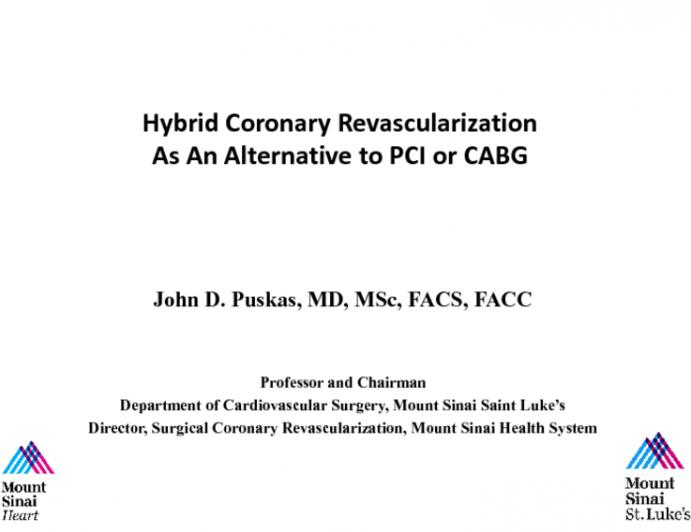 Hybrid Revascularization as an Alternative to PCI or CABG