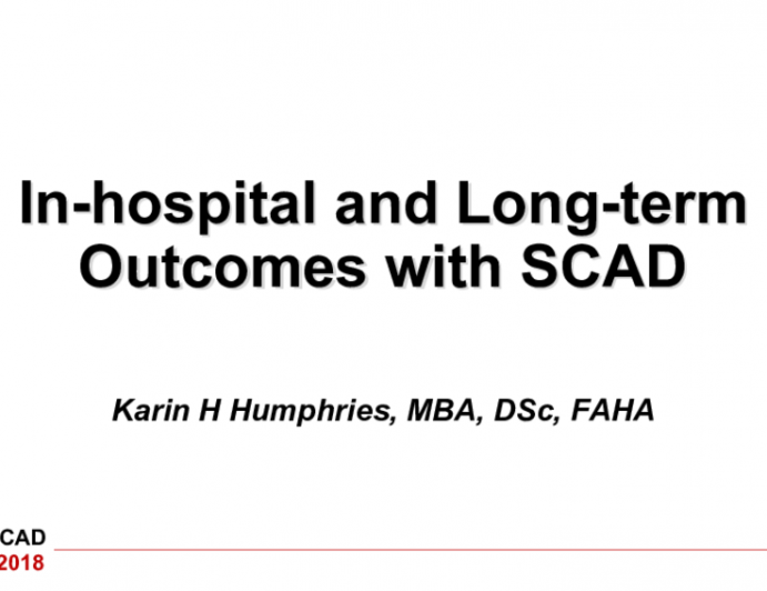 In-hospital and Long-term Outcomes with SCAD
