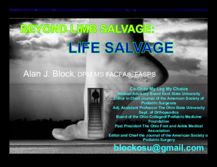 Beyond Limb Salvage: Life Salvage
