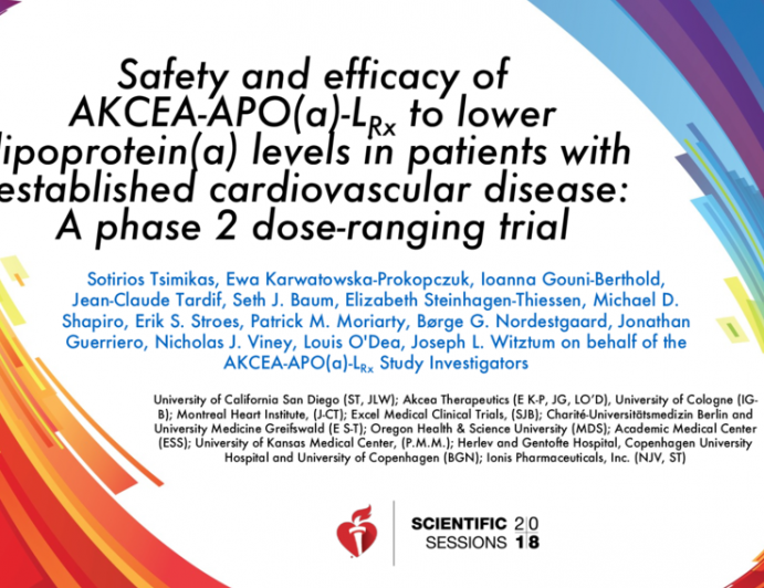 Safety and Efficacy of AKCEA-APO(a)-LRx to Lower Lipoprotein(a) Levels in Patients With Established Cardiovascular Disease: A Phase 2 Dose-Ranging Trial