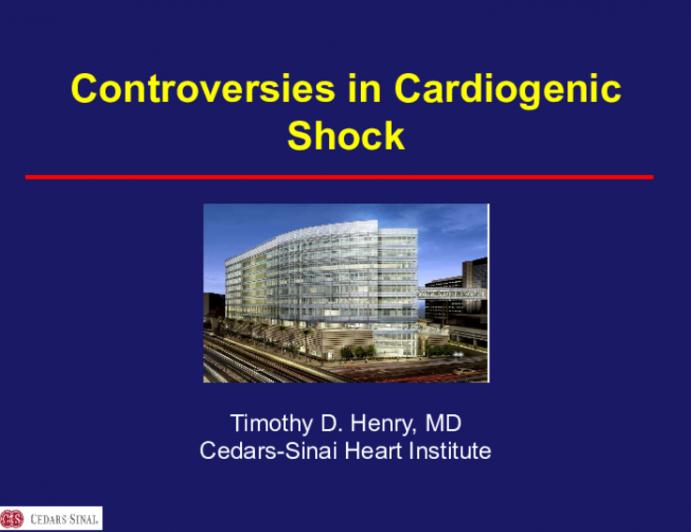 Controversies in Cardiogenic Shock