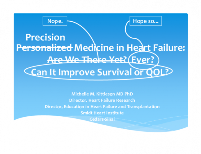 Personalized Medicine in Heart Failure: Are We There Yet?