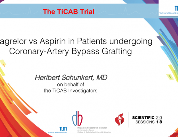 Ticagrelor vs Aspirin in Patients undergoing Coronary-Artery Bypass Grafting