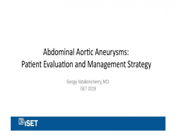 Abdominal Aortic Aneurysms: Patient Evaluation and Management Strategy